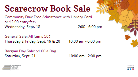 Scarecrow Book Sale